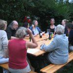 Chorprobe im Garten Molkenberg 2014